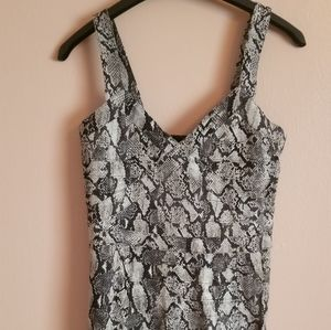 H&M snake print fitted dress